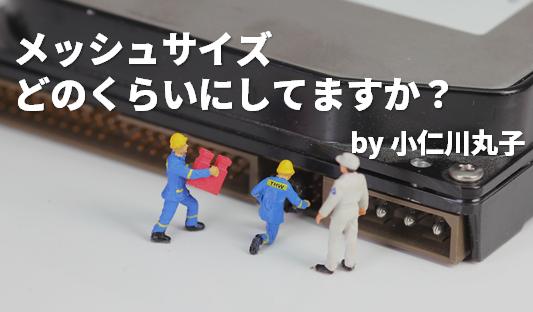 メッシュサイズどのくらいにしますか? by 小仁川 丸子